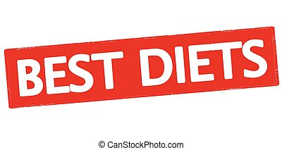 Best diets - Rubber stamp with text best diets inside,...