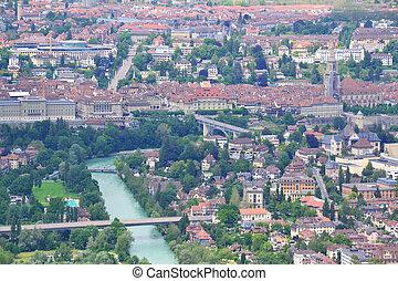 Bern bird eye view, Switzerland. - Bern bird eye view. Bern,...