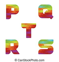 Alphabet colorful letters p to s - Colorful alphabet Serie...