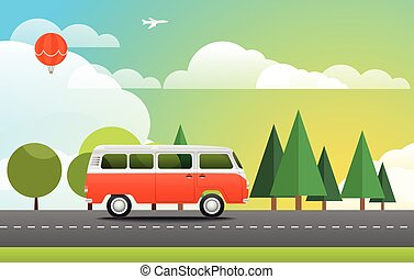 Take Vacation travelling concept Flat design illustration