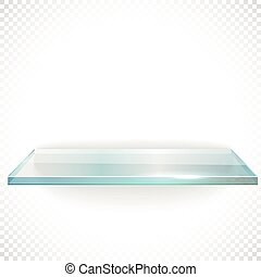 Square advertising glass board