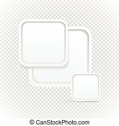 Abstract Background of boxes with blank area for any content on transparent