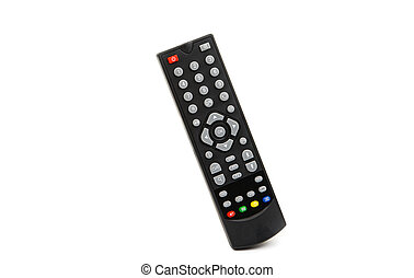 TV remote control on a white background