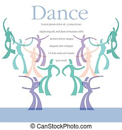 A template for a dance class flyer or instructional CD cover