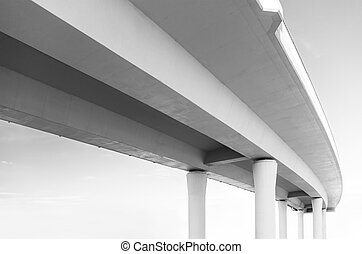 Elevated road from below