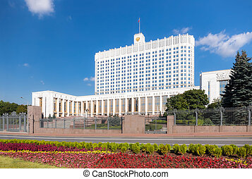 Russian White House - Government building of the Russian...