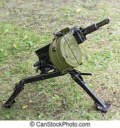 automatic grenade launcher with shallow depth of field -...