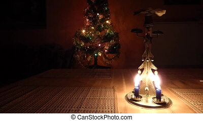 Christmas candle tree chimes