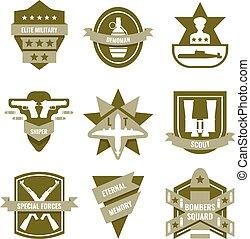 Army Khaki Emblems - Army khaki emblems with submarine...