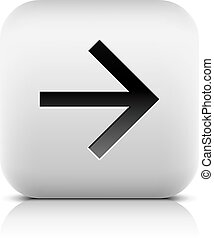 Web icon with black arrow sign