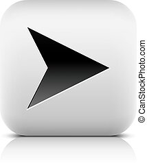 Web icon with black arrow sign. Series in a stone style....