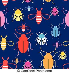 Vector pattern with insects