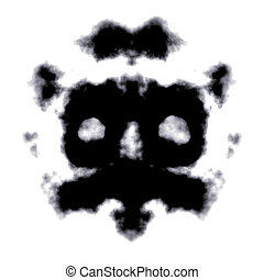 Rorschach Test of an Ink Blot Card