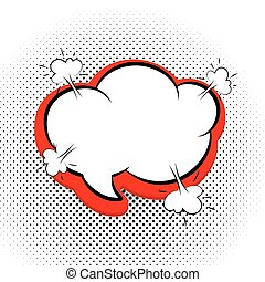 Speech bubble Pop Art Style black red