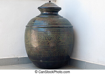 ancient and marvelous bronze jar