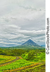 Arenal Volcano during a cloudy day