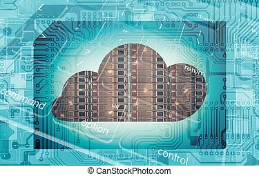 Cloud Technology Concept - Cloud Server Technology Concept...