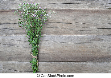 Bouquet flower grass. - Bouquet flower grass on a brown...