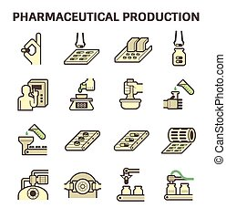 Pharmaceutical vector icon