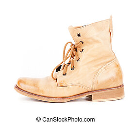 Vintage fashion Army combat boots