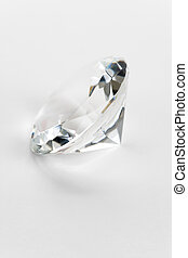 Diamond close up shot with white background