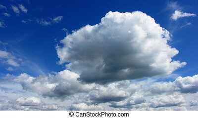 Clouds Timelapse - A time lapse done of moving clouds on a...