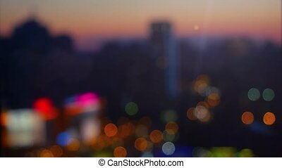 Blurred abstract background lights, beautiful cityscape view...