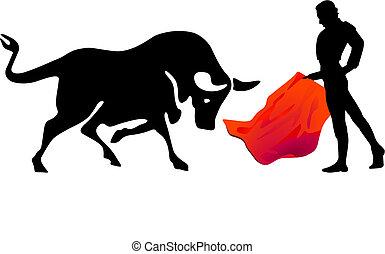 Bullfight, torero