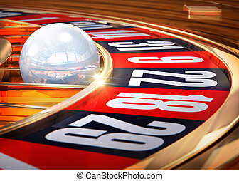 roulette - 3d rendering of a roulette