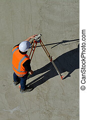 Land surveying - Aerial view of unrecognizable land...