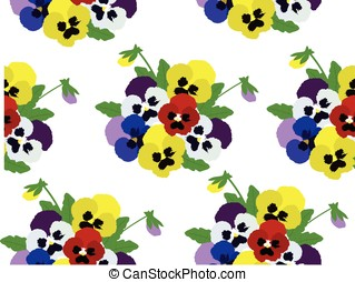 Pansies - vector pansies floral background