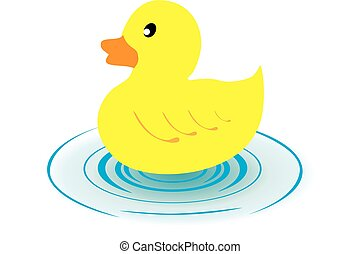 rubber duck - vector illustration of a rubber duck