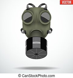 Retro gas mask - Retro vintage gas mask with one filter Army...