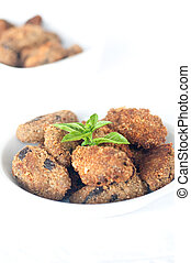 delicious meatballs made %u200B%u200Bwith eggplant