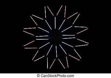 Neon light decoration in festival
