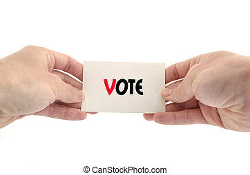 Vote text concept isolated over white background