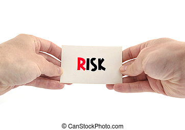 Risk text concept isolated over white background