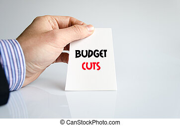 Budget cuts text concept over white background