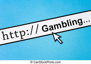 Online Gambling - Computer Screen, concept of online...