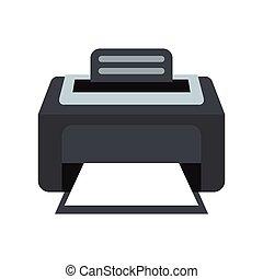 Printer icon, flat style - Printer icon in flat style...