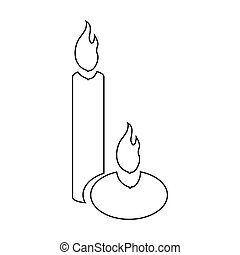 Aromatic candles icon, outline style