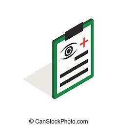 Diagnosis eye exam icon, isometric 3d style - Diagnosis eye...