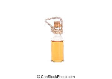Honey bottle - Close up of honey bottle on white background...