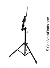 Music stand - Close up of music stand on white background...