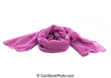 Beautiful multicolor scarf - Close up of beautiful purple...