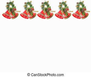 Christmas Bells on white