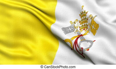 Vatican City flag seamless loop - Seamless loop of the State...