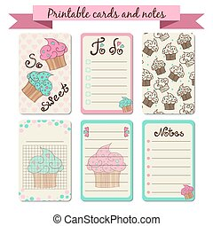 Printable journaling cards. Sweet notes. To do list with...