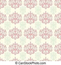 Damask colorful seamless pattern.