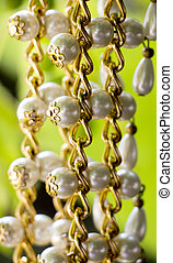 Pearls necklace ,fashion concept